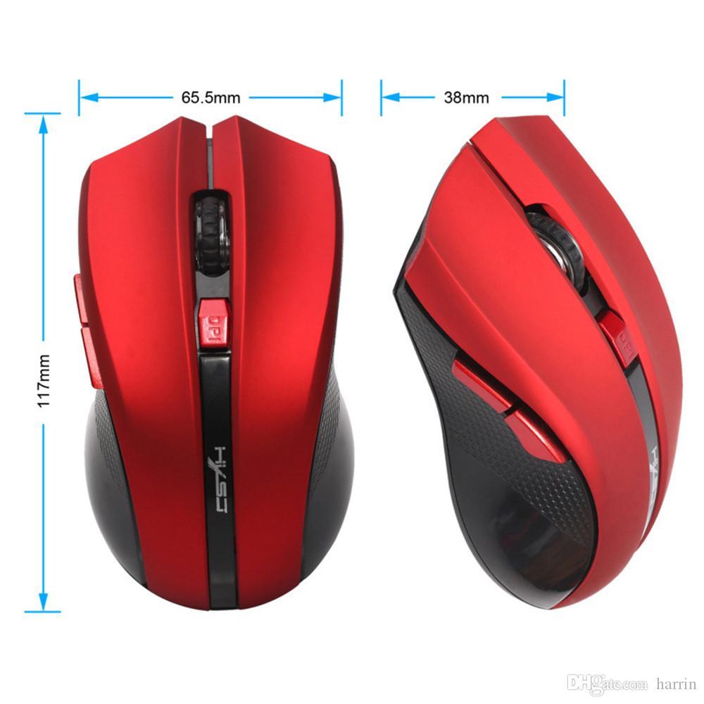 6 Tasten 2.4ghz Wireless USB-Empfänger optische Mausmäuse für Laptop-Computer-PC-Spiel 2893