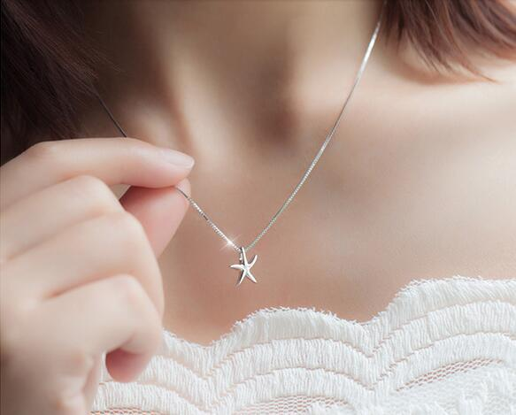 2017 New Arrival Top quality stander S925 Sterling Silver seafish pendant necklace for women