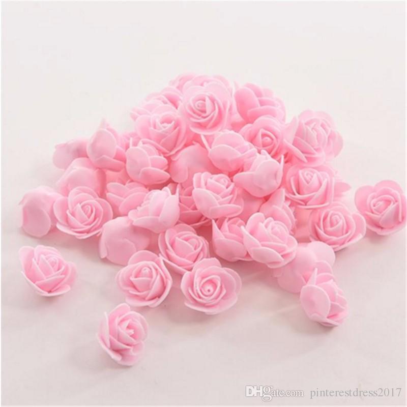 / sac Artificielle De Mariage Fleur Tête À La Main DIY De Mariage Décoration De La Maison Multi-usage PE Mousse Rose Expédition Rapide