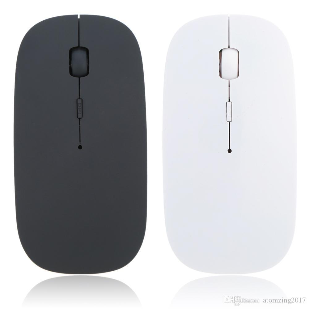 Nuevo 1600 DPI USB Óptico Wireless Computer Mouse 2.4G Receptor Super Slim Mouse para PC Portátil de escritorio