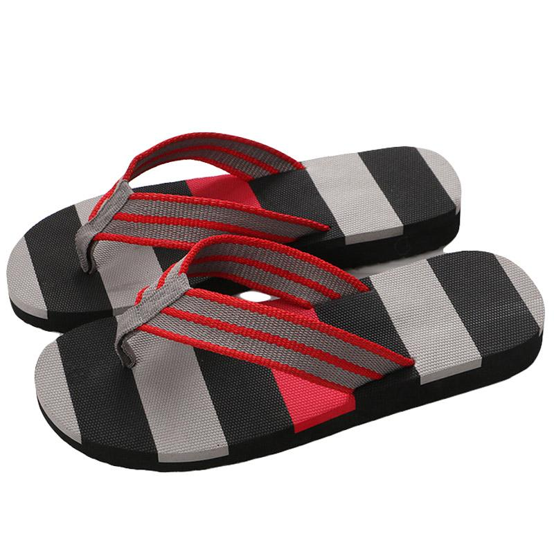8550eb117684 Islike New Summer Men Print Flip Flops EVA Cross Striped Ribbon Flat Slides  Non Slip Sandals Home Slipper Casual Man Beach Shoes Boots Sale Western  Boots ...