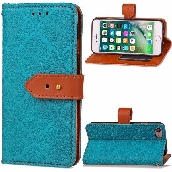 Padrão Bolsa em couro PU Fique Carteira Estilo Stent Phone Bag Case Capa com suporte de cartão Para Samsung S3 4 5 6 iphone 6S pacote de 6 Plus OPP