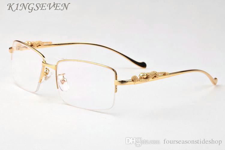 2020 شعبية رياضة الأزياء بولارويد النظارات الشمسية للرجال النساء بارد الذهب الفضة نمط النمر إطار معدني أسود رمادي واضحة عدسة بدون شفة