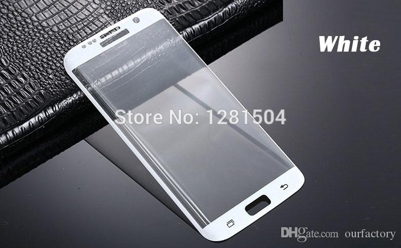 Wholesale 3D Full Curved Tempered Glass For Samsung Galaxy S6 S7 Edge Plus G935F Screen Protector 9H Film Protective