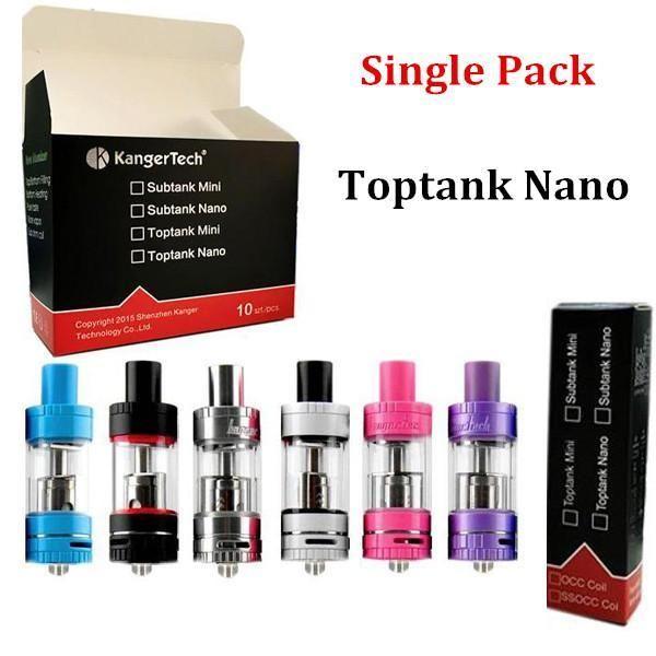 Kanger Toptank Mini Nano Subtank Mini V2.0 Nano-S Atomizers Single Pack Various Colors for Kangertech Subox Mini Nano Topbox Subvod Mega Kit