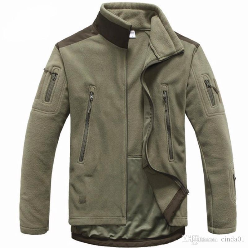 Men Tactical Clothing Autumn Winter Fleece Army Jacket Softshell