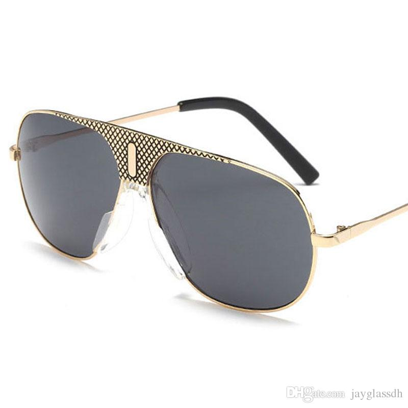 0bb54e9609d European And American Luxury Men Sunglasses Casual Fashion Eyewear Summer  Beach Metal Turtles Personality Cross Beam Retro Sunglasses Glasses Online  ...
