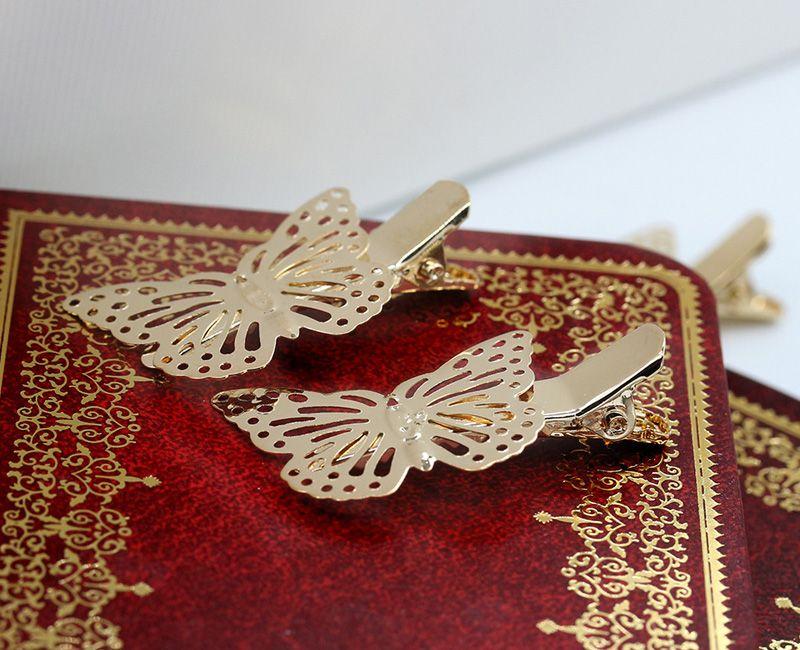 2017 neue Haarschneidemaschinen Frauen Shiny Gold Schmetterling Haarspange Schönheit Dame Haarschmuck Kopfschmuck Haarband Schmuck