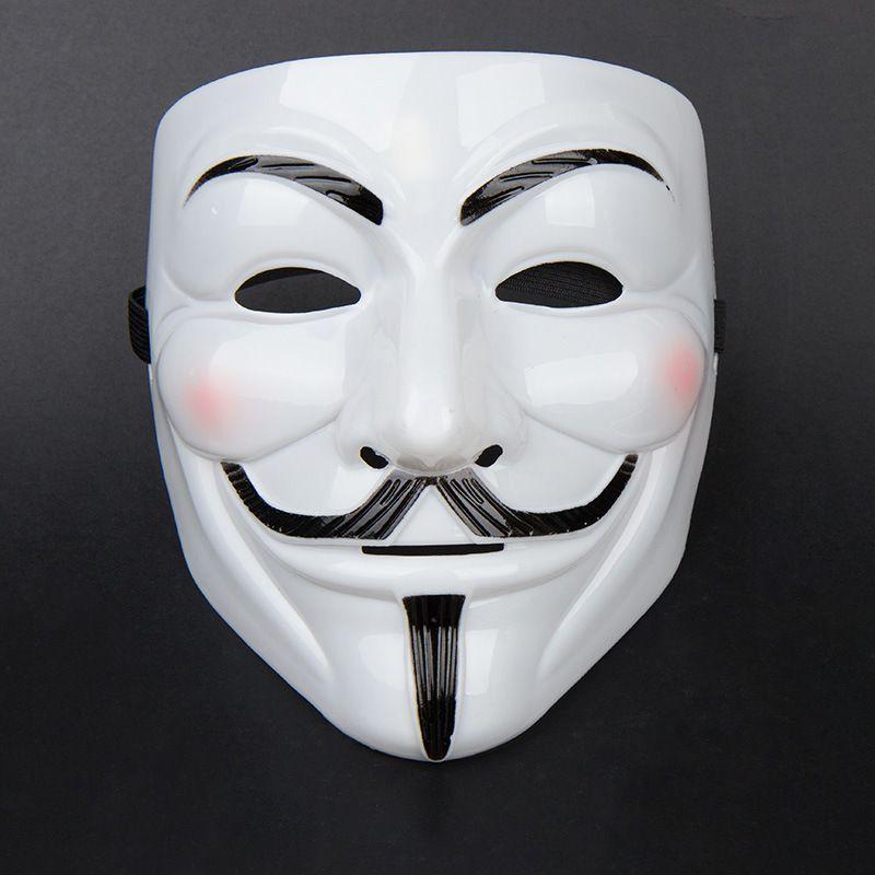 Máscaras de fiesta V para Vendetta Máscaras Anónimo Guy Fawkes Disfraz Disfraz de adulto Accesorio Máscara de plástico Cosplay