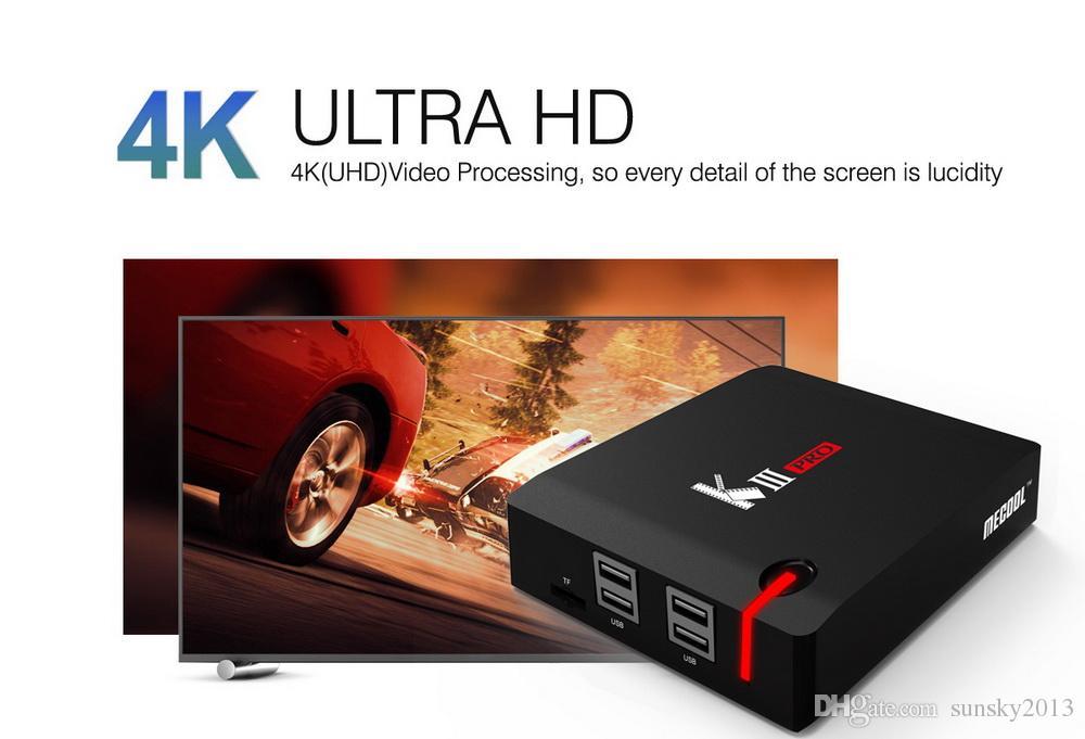 Mecool KIII Pro Android TV Box DVB S2 T2 Smart Mini PC Supports MPLP 3G 16G Amlogic S912 Octa Core 2.4G/5.0G AC Wifi Bluetooth Media Player