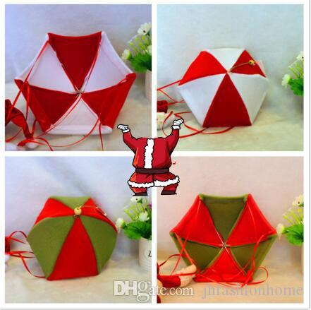 Natale decorare albero o casa rosso o verde Babbo Natale Paracadute Ciondolo Festa di Natale Forniture feste natalizie Accessori fai da te