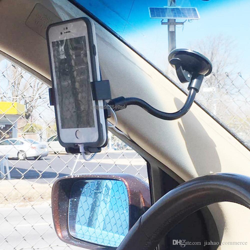 Universal KFZ-Halterung für Smartphone Handy GPS-Kamera 360-Grad-Rotation Handy-Halterungen Halter mit Kleinkasten
