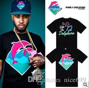 Pink Dolphin T Shirts T Shirts Men Crew Neck Shirts Tee Shirts Hip ...