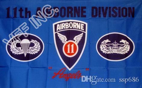 11. Airborne Division Engel Flagge 3 ft x 5 ft Polyester Banner Fliegen 150 * 90cm Individuelle Flagge