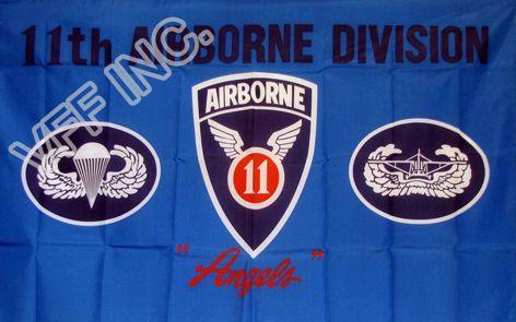 11. Hava İndirme Bölümü Melekler Bayrak 3 mx 5 ft Polyester Banner Uçan 150 * 90cm Özel bayrak