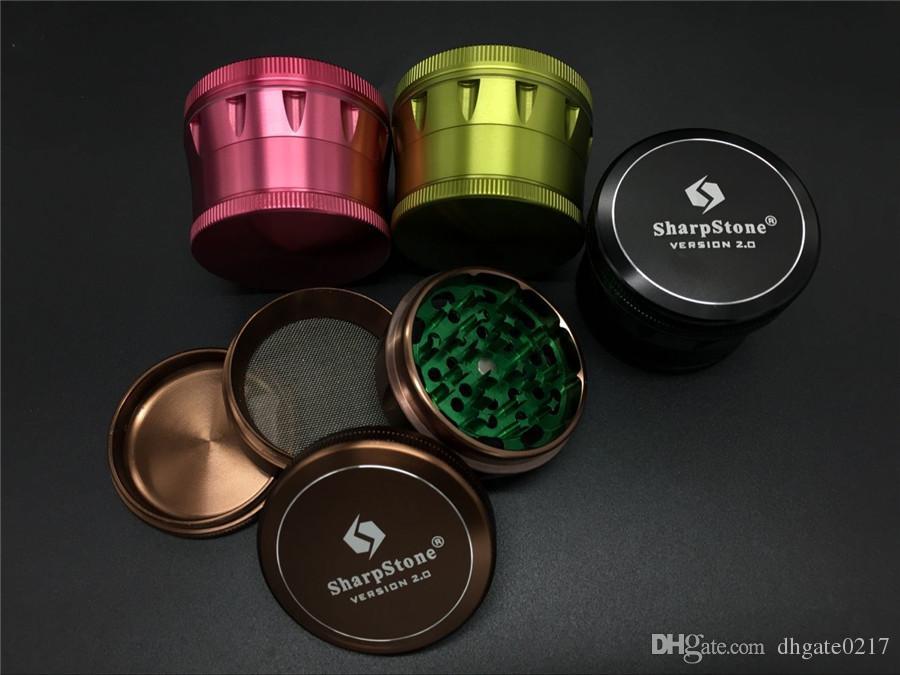 розовый 4Layers63mm SharpStone версия 2.0 измельчитель трав Алюминий Металлические коптильни для табака Дробилка табака SharpStone травяная шлифовальная машина