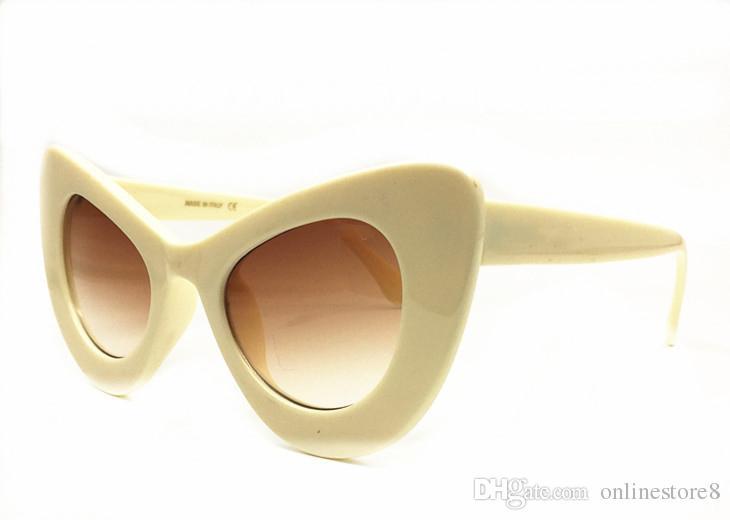 جودة عالية م العلامة التجارية مصمم النظارات الشمسية للنساء أزياء الصيف في الهواء الطلق الكلاسيكية القط العين Sunwear مع مربع حزمة الأصلي