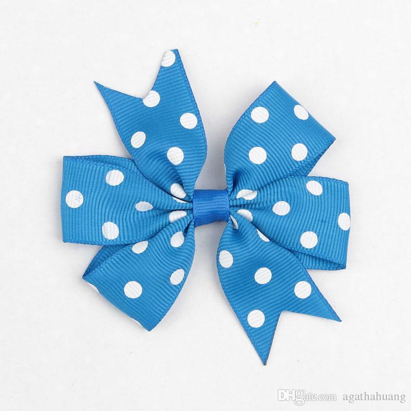 Lovely Polka Dots Hairclips ragazza Accessori capelli Moda Capelli Archi Forcelle Bambino Popolare Bowknots Bambini Capelli Diapositive Barrettes