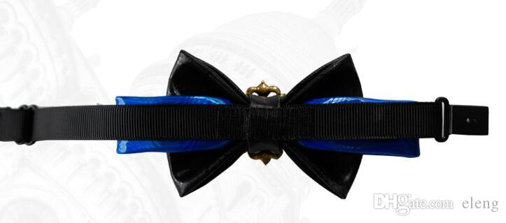 Neue hochwertige Fliege Bogen Set Schneckenwelle kortikalen Metall Krawatte Weihnachten Fliege für Männer Krawatte königliche Familie Krawatte Kern und die Hochzeit liefert 6