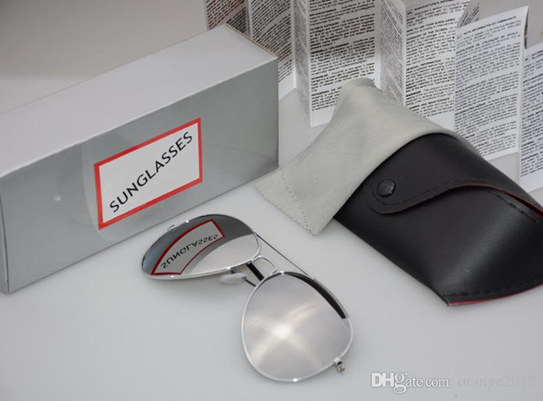 고품질 브랜드 디자이너 패션 거울 남자 여자 Polit 편광 선글라스 UV400 빈티지 스포츠 태양 안경 원래 상자와 경우