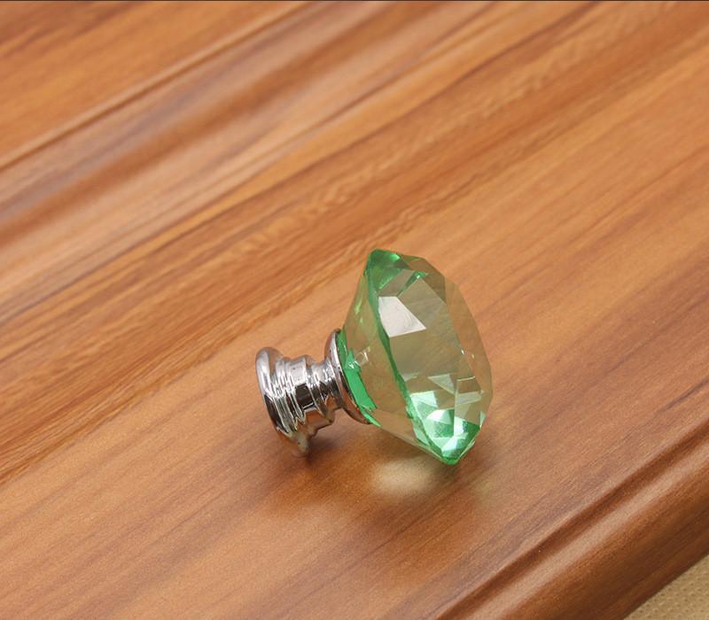 Rosa trasparente blu giallo verde cristallo diamante cucina da cucina maniglie manopole mobili cassetto accessorio singolo tira # 32