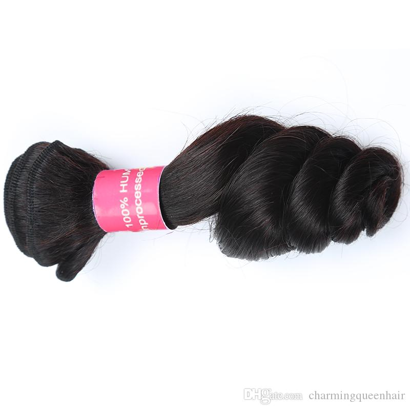 Горячие Сбывания Бразильские Малайзийские Волосы Соткут Свободную Волну 100% Unprocessed Виргинские Пачки Волос Бразильские Малайзийские Виргинские Выдвижения Человеческих Волос
