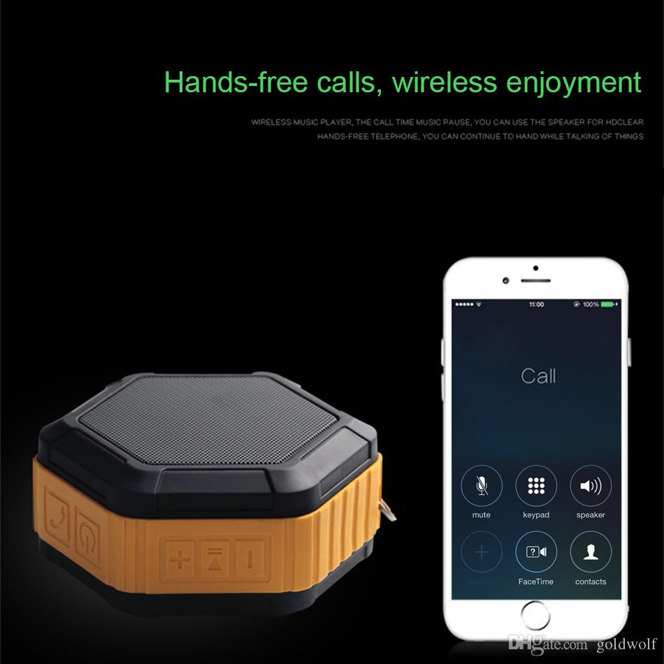 Wholesale Bluetooth IP65 Waterproof Speakers Dust-proof Anti-scratch Shockproof Car Speaker Can Receive Call Handfree Mini Outdoor Speaker
