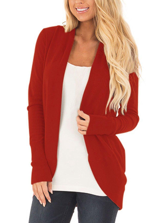 2018 New Hot Sale Long Cardigan Women Autumn Sweater Women Solid ...
