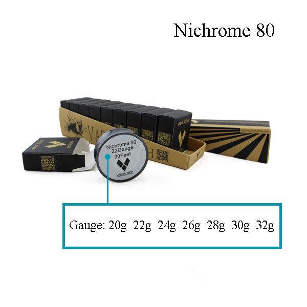 Vapor Tech Nichrome 80 Draht Heizung Widerstand Spule 30Feet Spule AWG 22 24 26 28 30 32 Gauge für RDA Zerstäuber DHL Frei