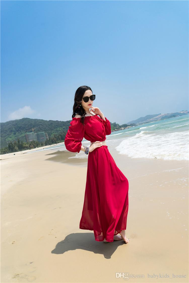 Fashion pregnant women Bohemia beach skirt Maternity Dress two piece set chiffon dress code for pregnant women