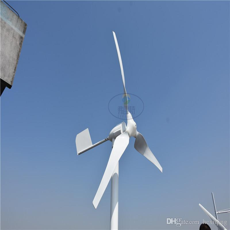 0.6kw Wind Power Generator with 12V 24V Auto MPPT Controller
