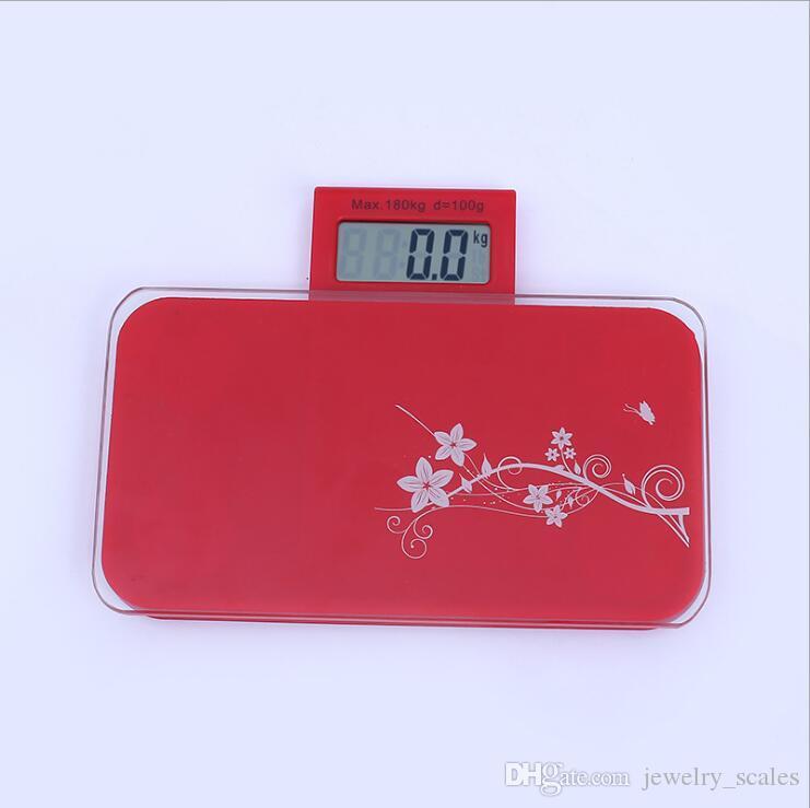 Мини портативный ванная комната шкала стекло смарт-бытовые электронный баланс цифровой вес тела шкала ЖК-дисплей 180kg