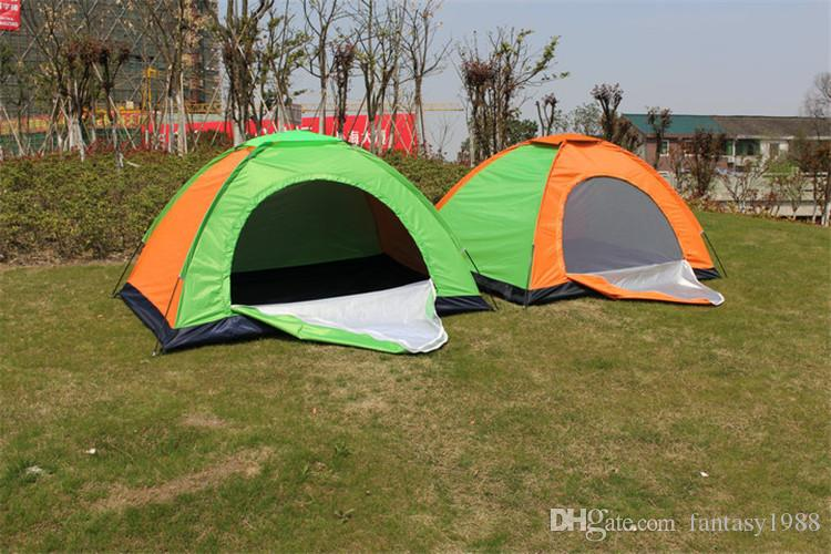 Summer Graduation Travel Gear Hiking Tents Outdoors Camping Shelters Tent for Beach Travel Lawn Home Tent 1-2 Persons UV Protect Mixed Color