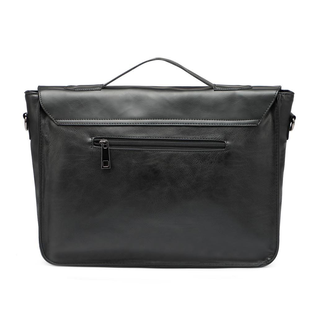 Zebella Quality Black Vintage PU Leather Briefcase Men Messenger Bags Male Business Office Bag Lawyer Office Laptop Handbag
