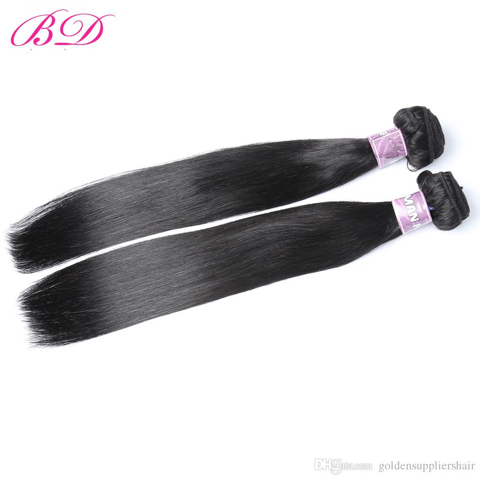 BD Silky Straight Golden Suppliers Remy Hair Sew In Hair Extensions Virgin Malaysian Straight Human Hair Bundles