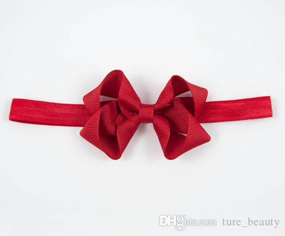 HOT SALE Bow Headband Newborn Elastic Headband Twisted Boutique hair Bow with clip for teens girls kids Hair accessories /