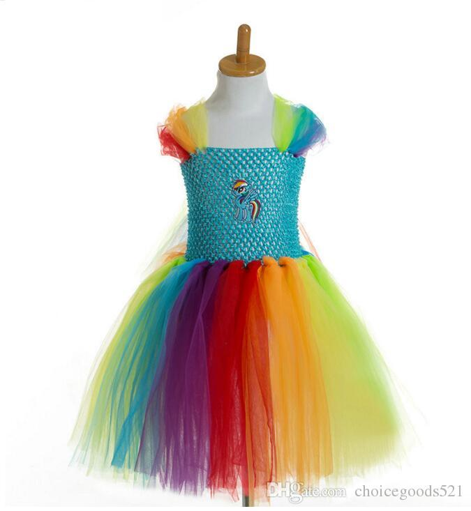 b1aacd847 2019 Girl Dress Colorful Girl Tutu Dress Cartoon Cartoon Style ...