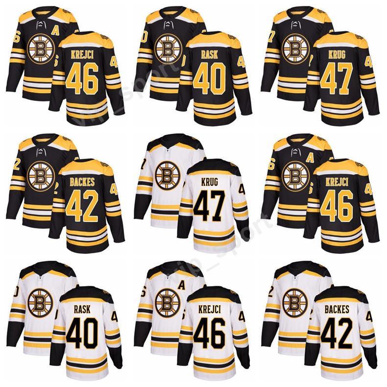 2019 New Style 40 Tuukka Rask Boston Bruins Hockey Jerseys 42 David Backes 46  David Krejci 47 Torey Krug Jersey Custom Stitched Black White From  Vip sport e8172bd14