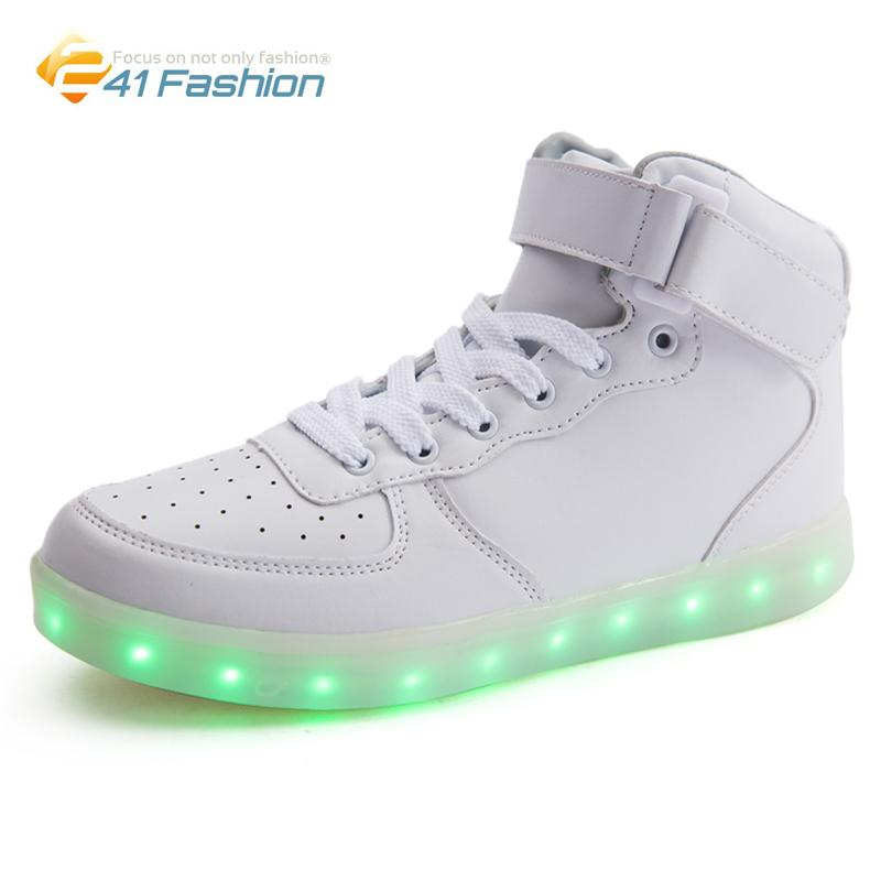 Sneaker LED Light High TopLace Up Chaussures Unisex thYjITkTe