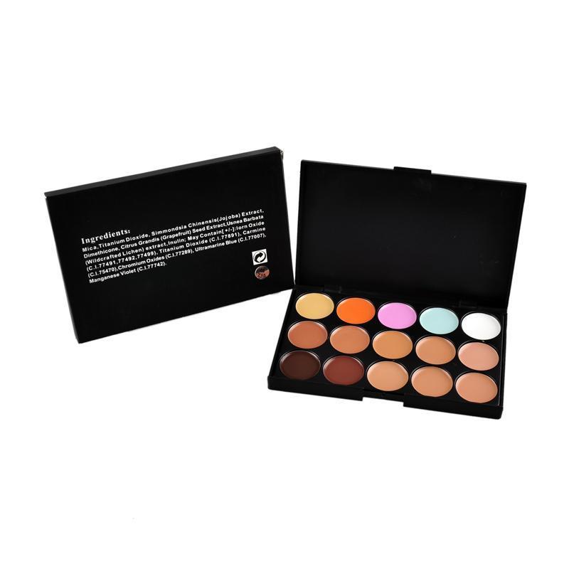 Profesjonalne 15 Kolory Concealer Foundation Contour Face Cream Makijaż Paleta Pro Narzędzie do Salon Party Ślubne Codziennie 0605056