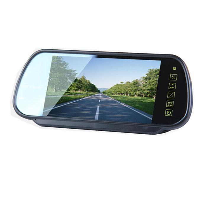 7 Inch Car Monitor MP5 Bluetooth TFT LCD 2 Way Video In Fit For Camera DVD Head Pillow PAL NTSC Rearview EMS