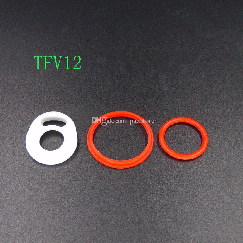 TFV12 Prens Bebek Prens TFV8 Büyük Bebek vape Kalem 22 Silikon mühür O yüzükler Kauçuk Halka Değiştirme Üst Sızdırmazlık Beyaz Pedleri O Yüzükler