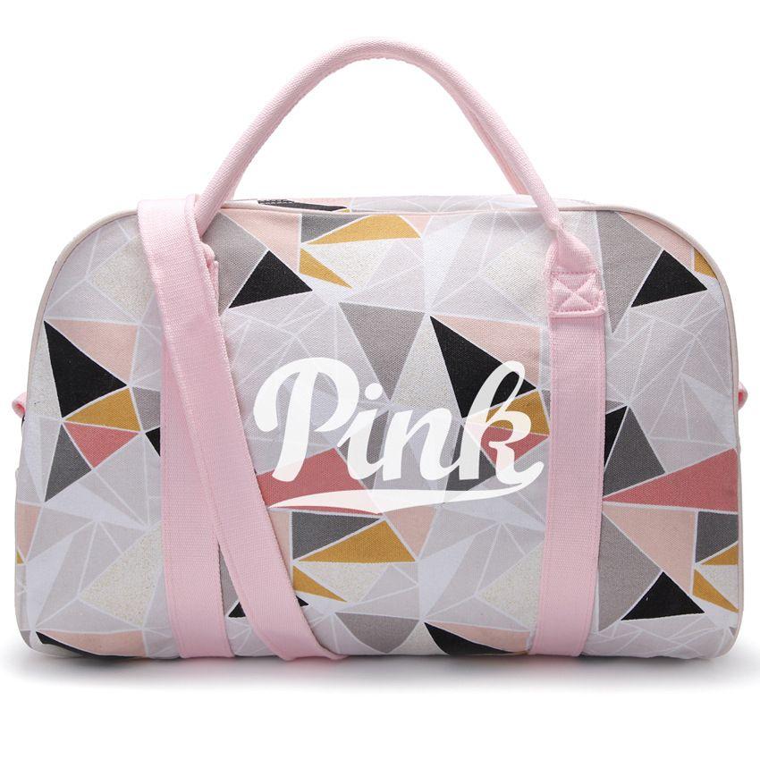 PINK Women Travel Bags Beach Bag Shoulder Pink Messenger Bag Totes ... b45924752b