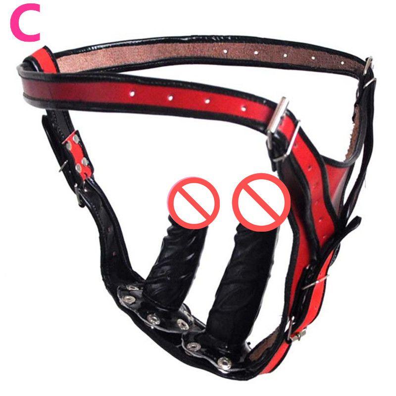 Askı On Dildo + Anal Plug Giyilebilir Penis Yeni 2in1 Elektrikli Çift başlı Demeti Vibratörler + Kadınlar için Popo Fiş Seks Oyunu Oyuncaklar C3-2-30