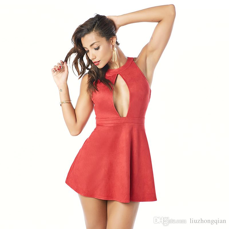 Beauty Garden Women Sexy Off Shoulder Lace Up A-line Mini Fashion Summer Red Club Dresses