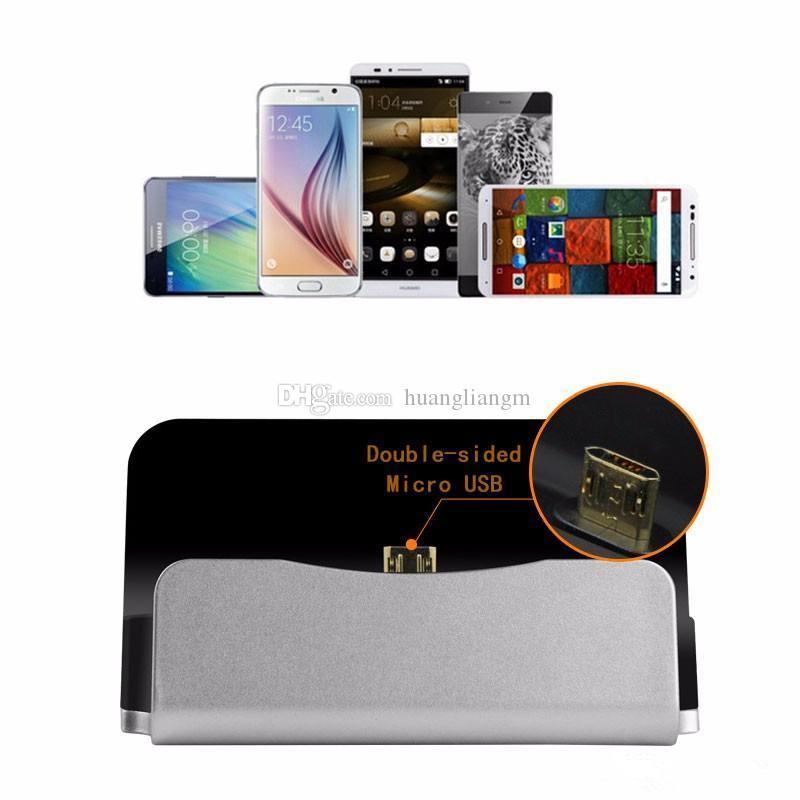 Hızlı Şarj Dock İstasyonu İstasyonu Cradle Şarj Perakende Kutusu Ile Sync Dock Için Tip-c iPhone 6 7 Artı Samsung S6 S7 S8 kenar Not 5