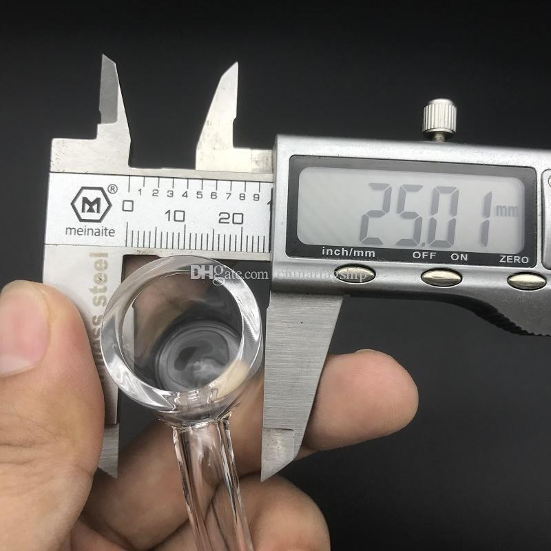 3mm Épais Plat Top XL Club Quartz Banger Nail 25mm OD Femelle mâle avec Boule Carbone Couleur Pour Bongs En Verre Oil Rigs