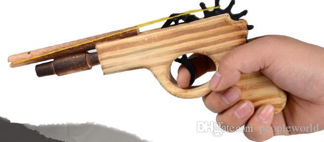New arrival kids toys wooden toy gun classic playing rubber band toy pistol guns interesting kids guns toys