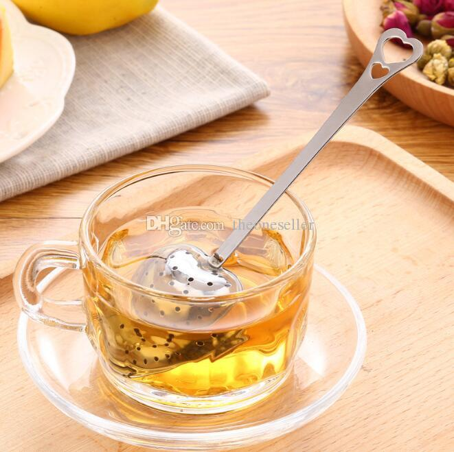 "2017 Hot Spring ""Tea Time"" Convenience Heart Tea Infuser Heart-Shaped Stainless Herbal Tea Infuser Spoon Filter"