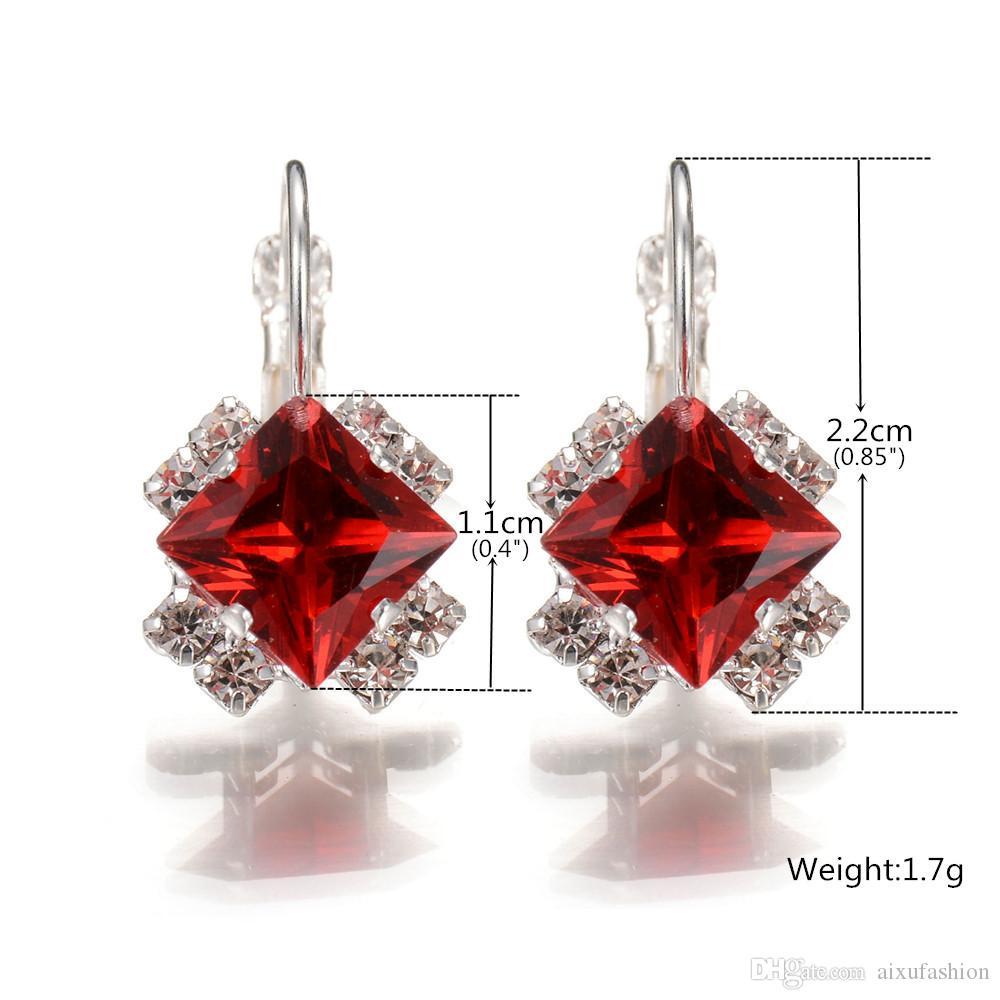Mujeres Personalidad Pendientes Brillantes 2017 Best Selling Fashion Diamond Stud Pendientes Joyas de Cristal Pendiente Al Por Mayor es